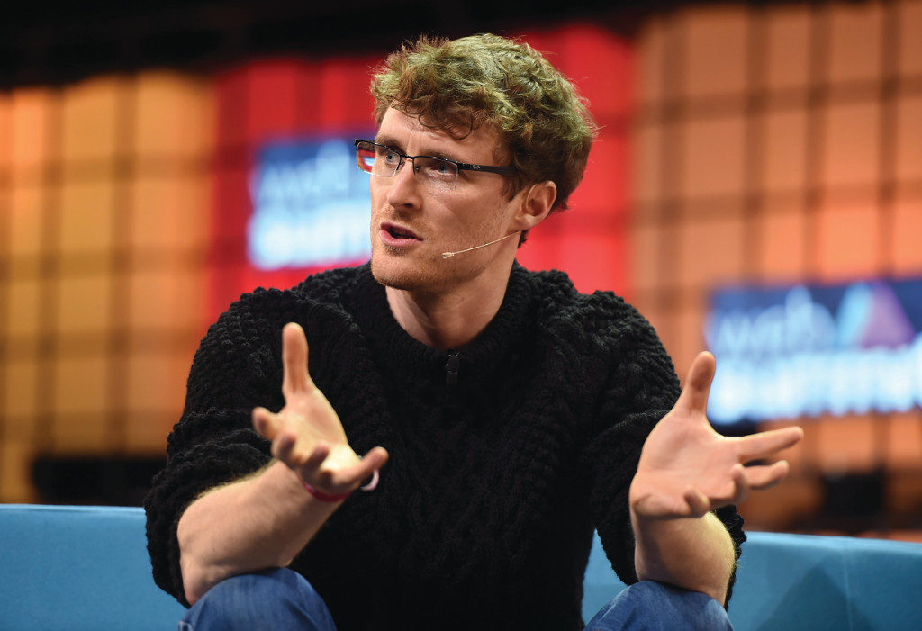 4 November 2015; Paddy Cosgrave, CEO, Web Summit, at the Careers Summit during Day 2 of the 2015 Web Summit in the RDS, Dublin, Ireland. Picture credit: Cody Glenn / SPORTSFILE / Web Summit