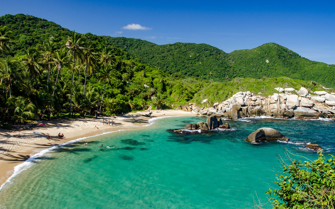 Caribbean beach in Tayrona National Park, Colombia