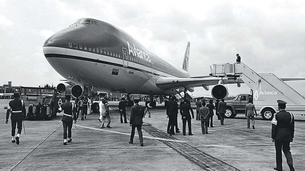 Old photo of Jumbo 747