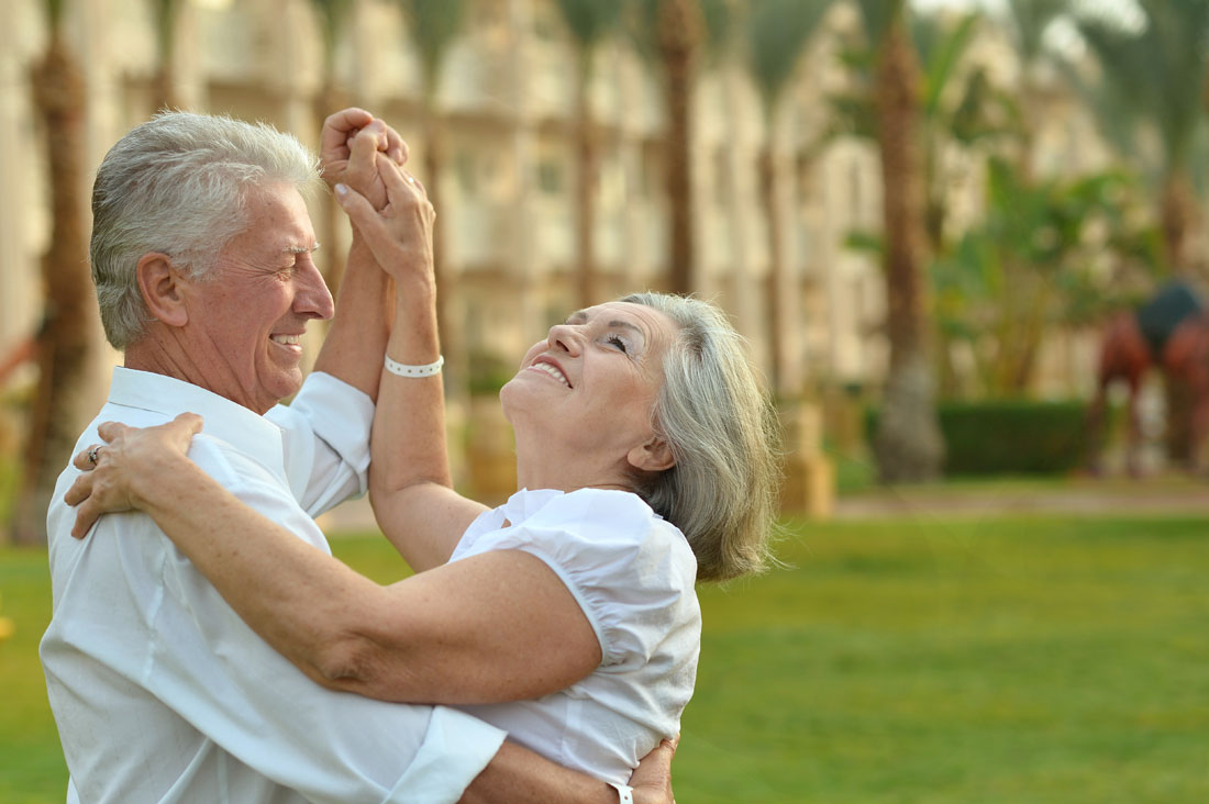 Happy Mature couple in love enjoy vacation