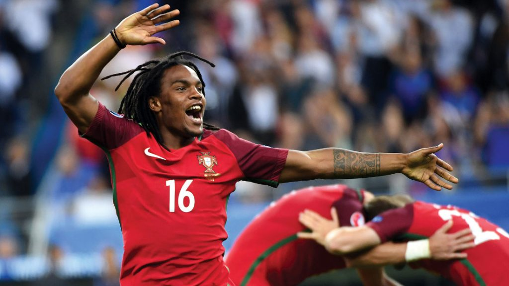 Renato Sanches celebrates after Portugal's 1-0 win against France during the UEFA EURO 2016 Final match between Portugal and France