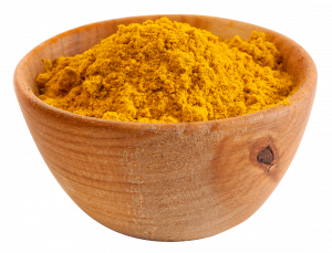 Spices in a wooden platter