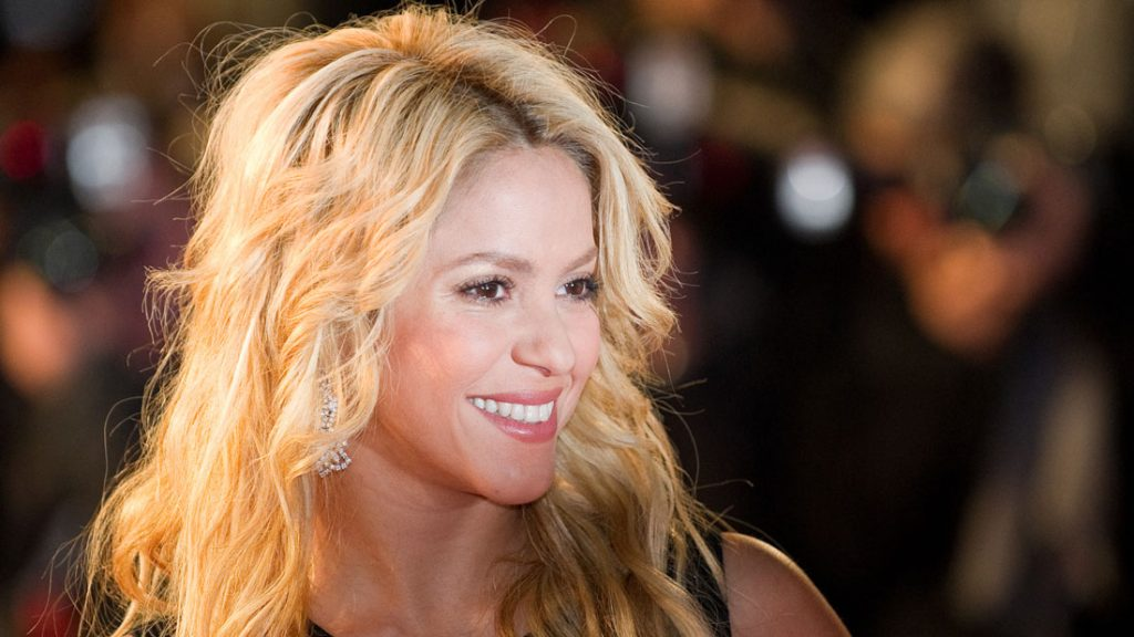Shakira on the red carpet of NRJ Music Award 2011 during the Midem