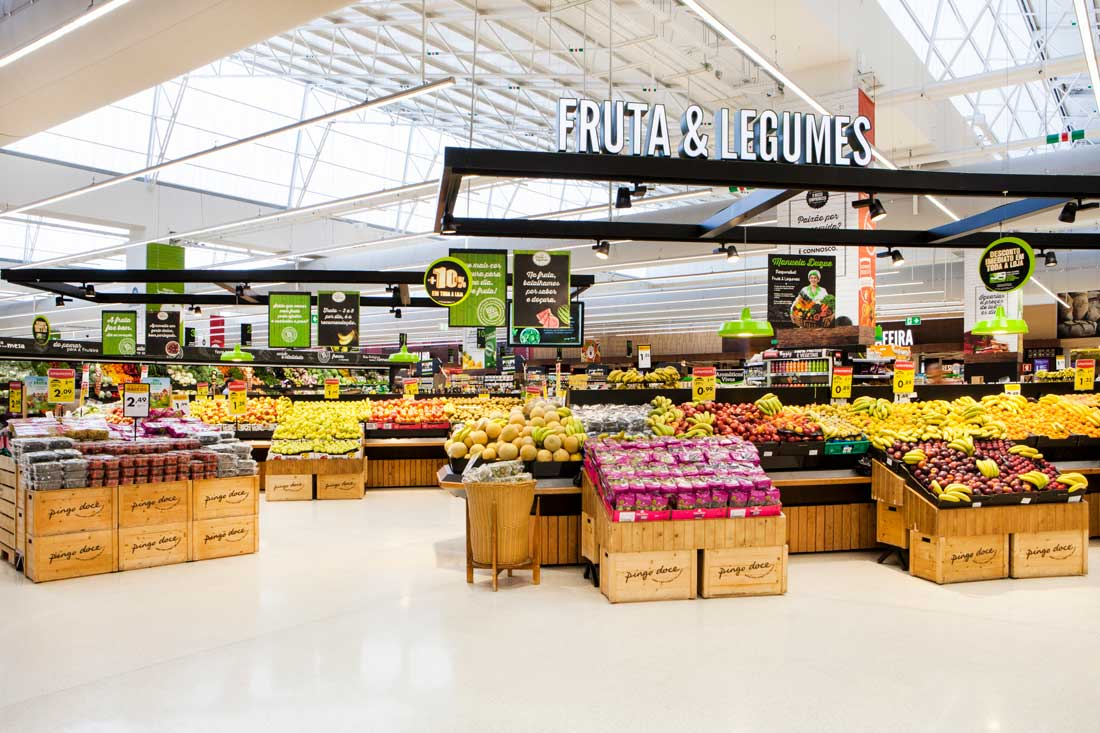 Jerónimo Martins Telheiras Store, fruits and vegetables area