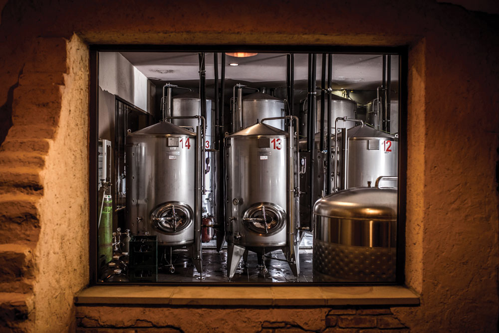 photography of brewery machines