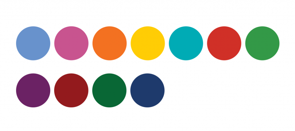 All colors of the new logo of Jerónimo Martins
