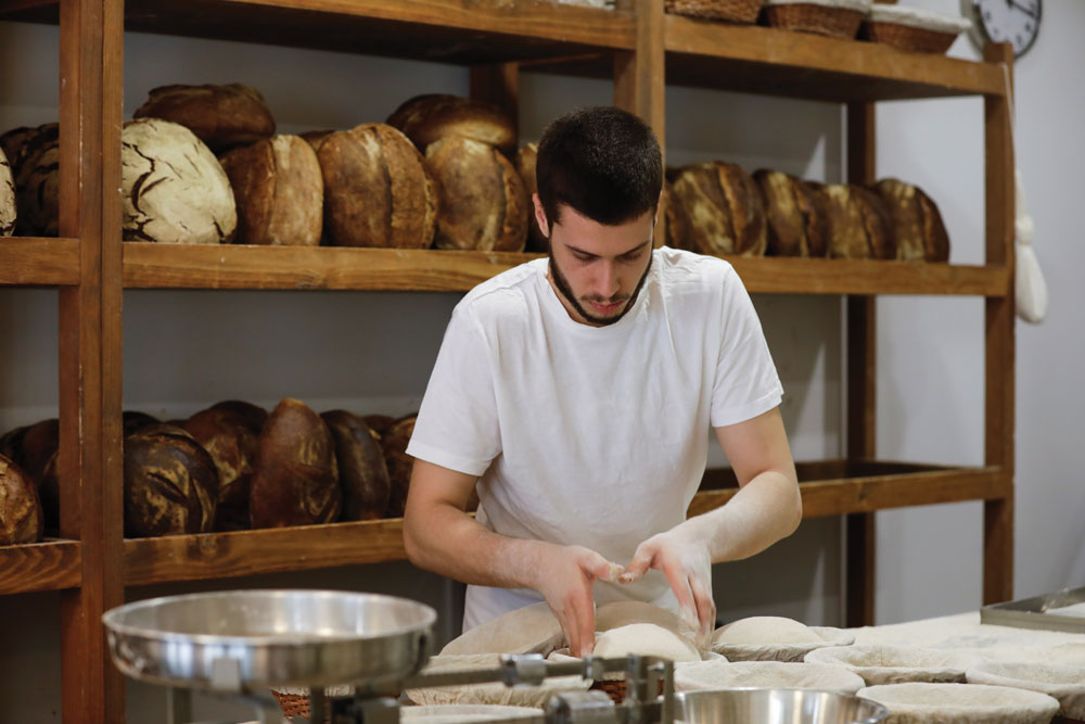 Diogo making bread