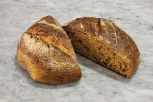 gleba sweet potato bread in marble background