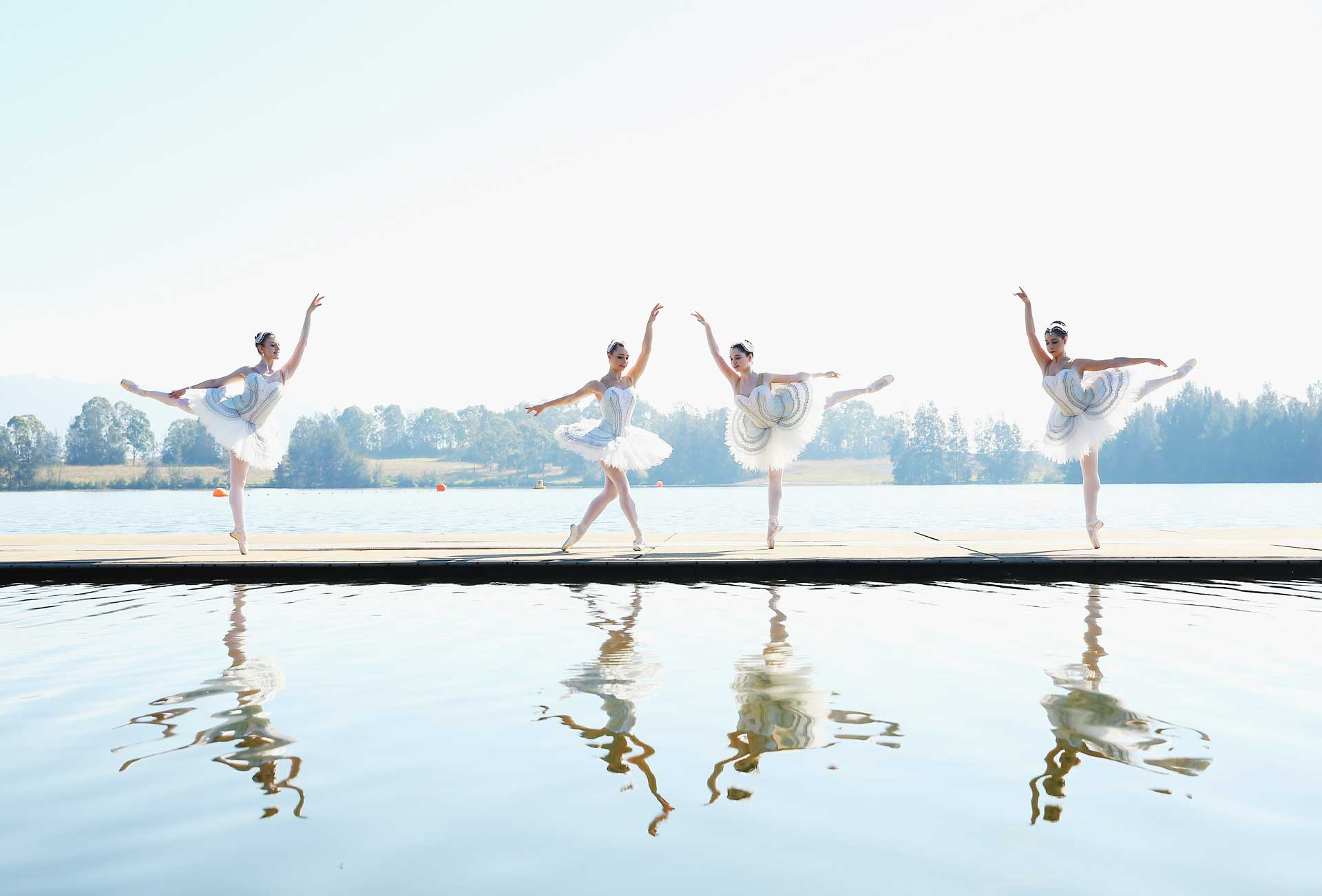 Ballet dancers perform during a media call for the Australian Ballet at Sydney International Regatta Centre on May 6, 2016 in Sydney, Australia.