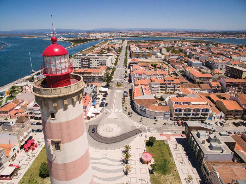 Barra de Aveiro top view
