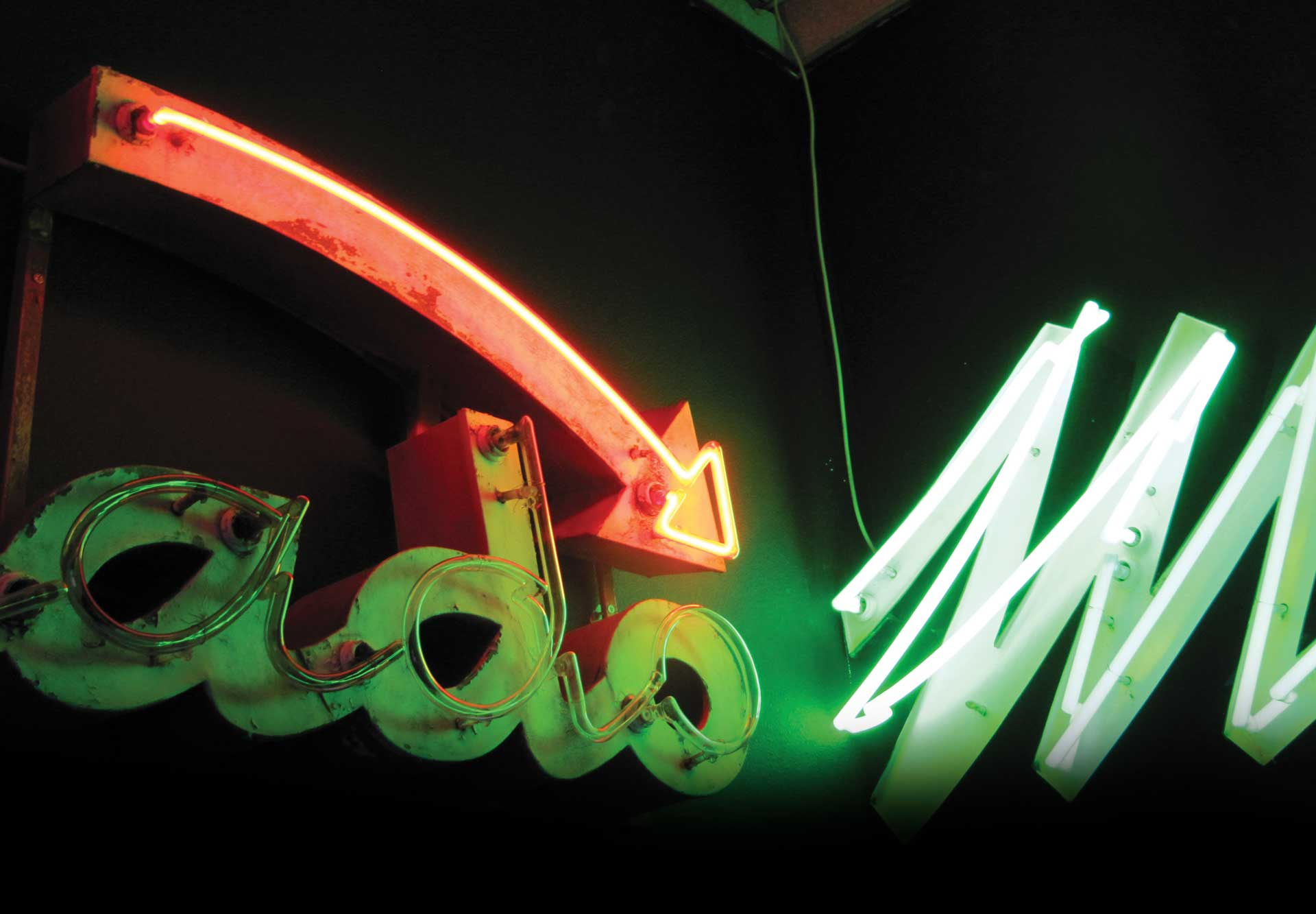 Details of an old neon