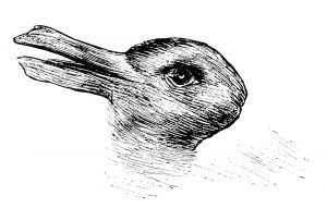 Duck-Rabbit illusion.