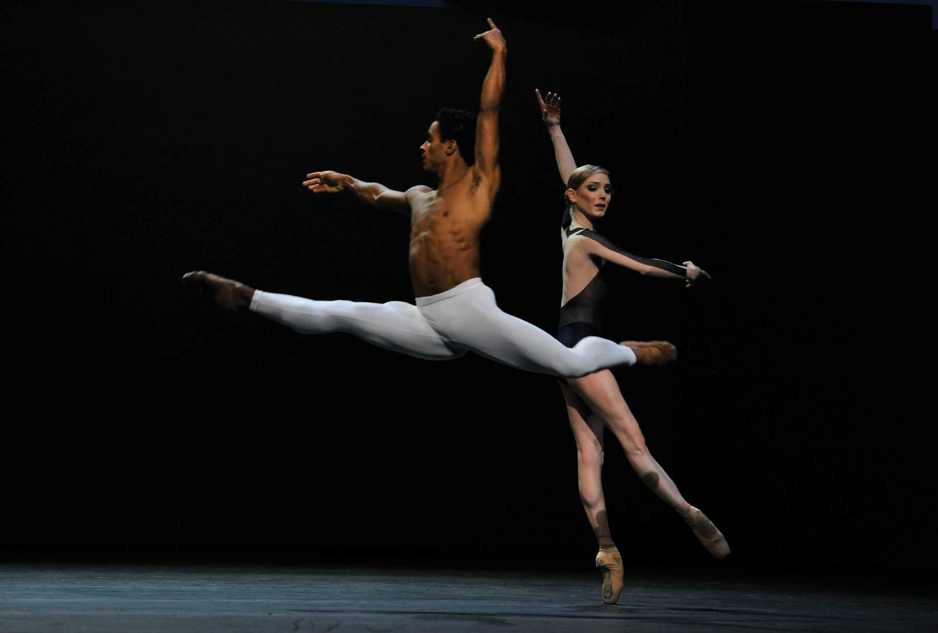 Sarah Lamb and Marcelino Sambe in the Royal Ballet's production of David Dawson's The Human Seasons at the Royal Opera House
