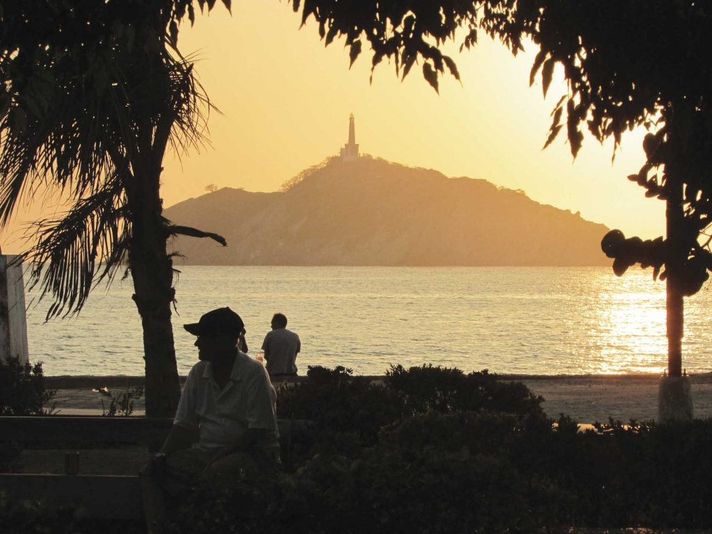The Sentinel of Santa Marta at the sunset