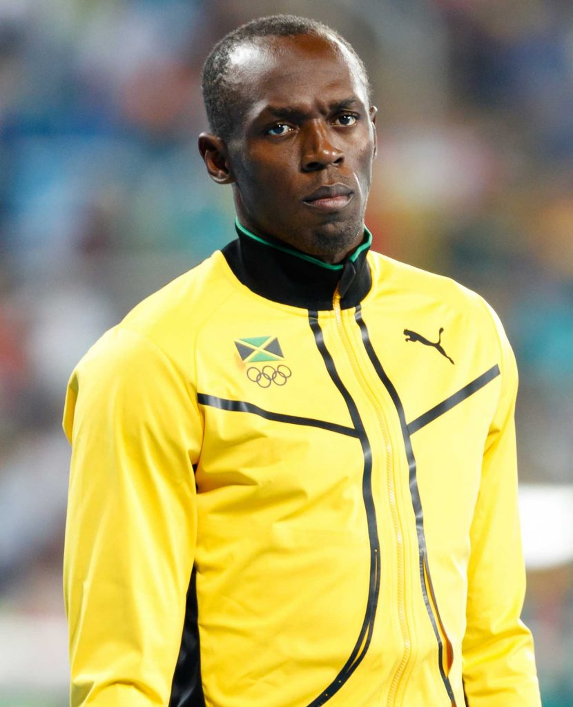 Usain Bolt in Medal Ceremony 200m Men at the 2016 Summer Olympic Games in Rio De Janeiro.
