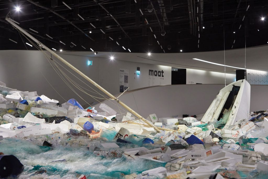 design artwork - installation Over Flow on MAAT