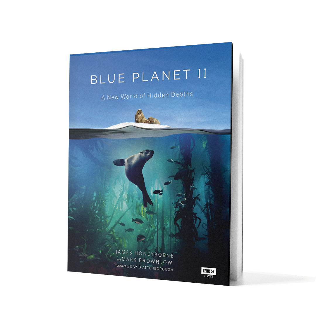 Book Blue Planet II on white background