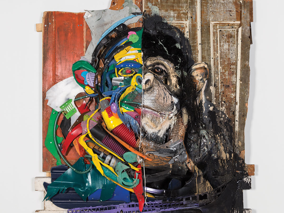 Half thinker chimp was featured in Lisbon at Attero, the artist's first individual exhibition.