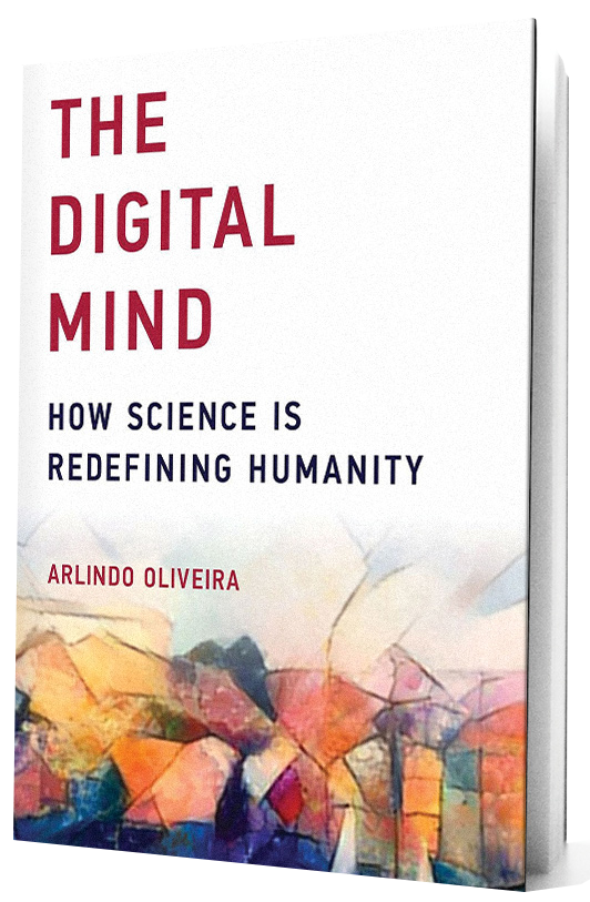 The Digital Mind book with transparent background.