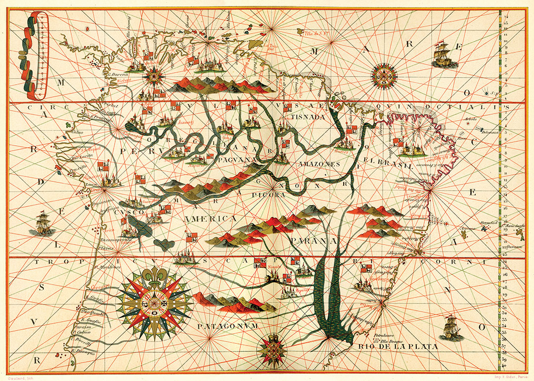 Map of South America, from a Spanish Atlas, 1582