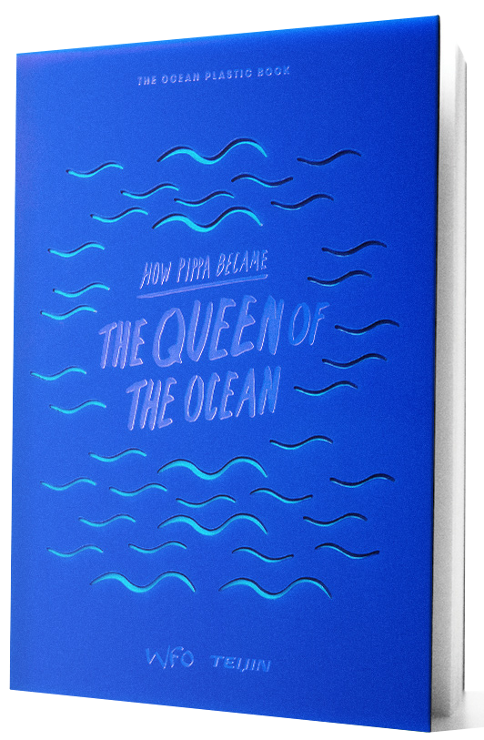 The Ocean Plastic book with transparent background.