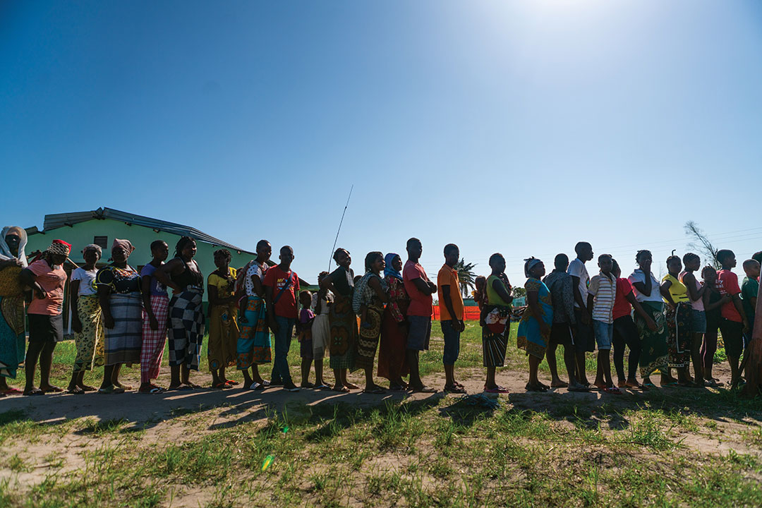 Cyclone Idai's trail of devastation has ruined the sanitation infrastructures of Beira, providing the perfect conditions for cholera to spread. Lines were formed, so that thousands could receive cholera vaccines and could have safe water to drink.