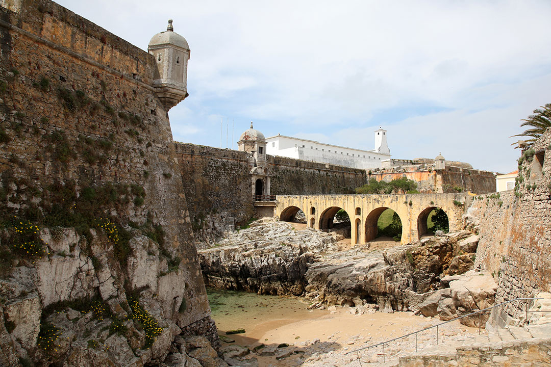 Peniche Fortress - Portugal This for was finished in 1645 and has had a number of uses including military use, a political prison and now used as a museum.
