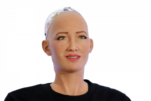 Sophia humanoid robot at Open Innovations Conference at Skolokovo technopark