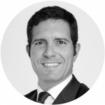 black and white portrait of Daniel Vieira