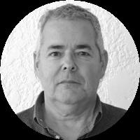 black and white portrait of Luis Gonzalo Jaramillo