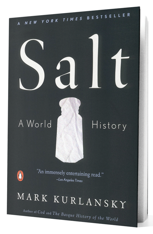 Salt book on transparent background