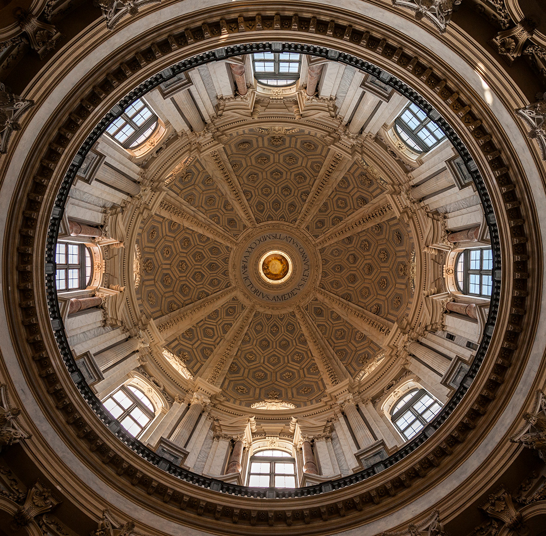 Interior of the dome of the Basilica of Superga, Turin. Italy, 18th century.