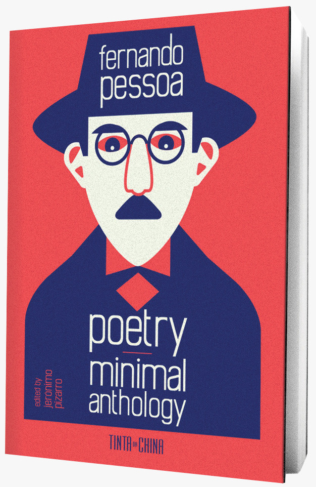Poetry Minimal Anthology book on grey background