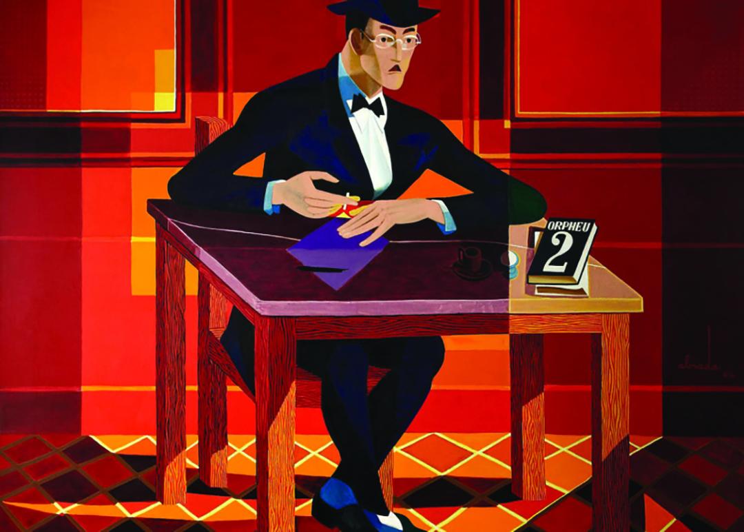 Illustration of Fernando Pessoa