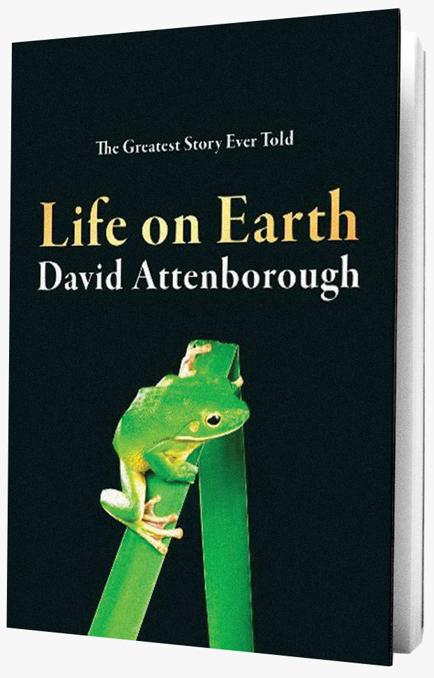 Life on Earth book on grey background