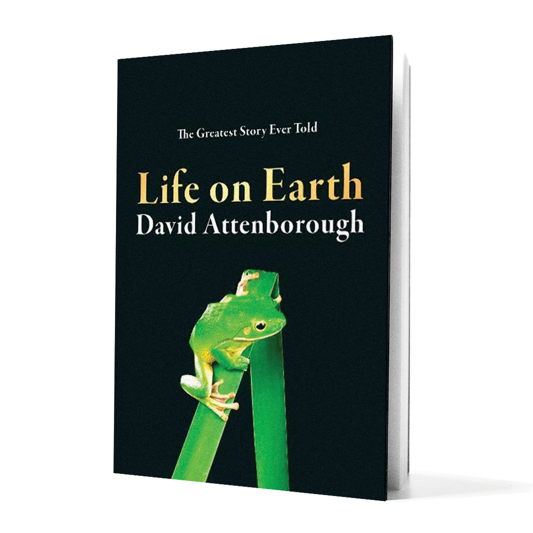 Life on Earth book on white background