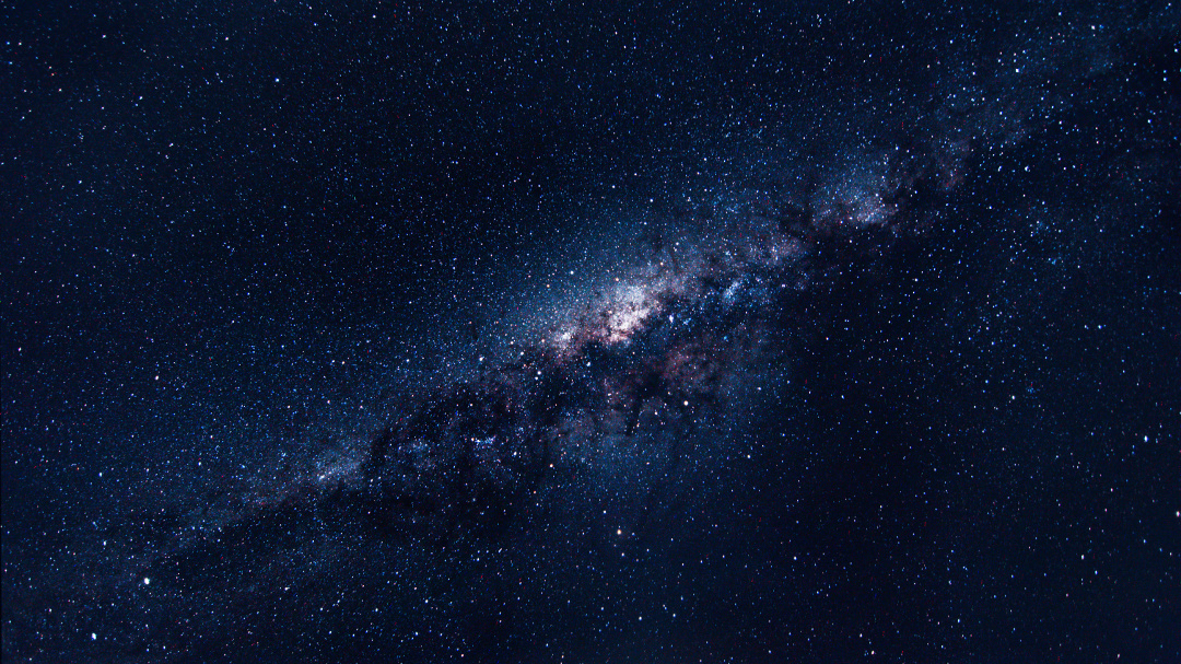 Milky way galaxy with Bright Stars and space dust