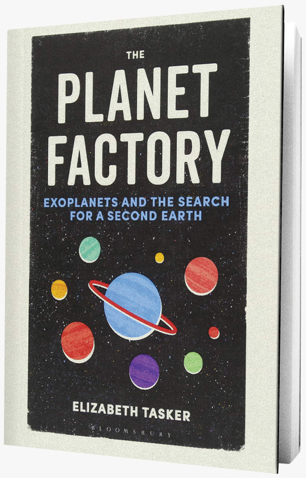 Planet Factory book on grey background