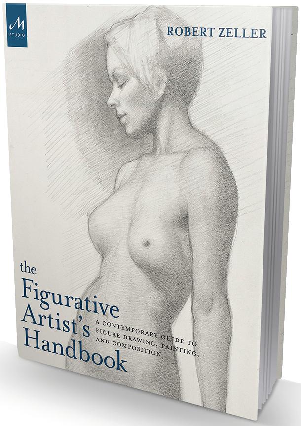 Figurative Artist's Handbook book on transparent background