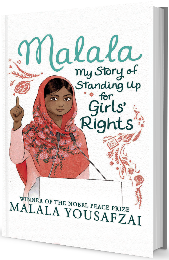 Malala book on transparent background