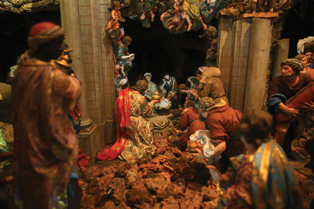 The Nativity scene in the Basilica da Estrela in Lisbon was built between 1781 and 1785 and has more than 400 figures.