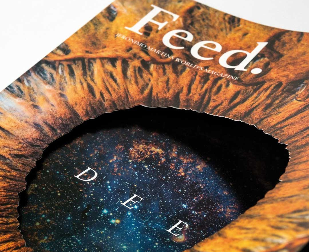 close up of feed magazine's cover