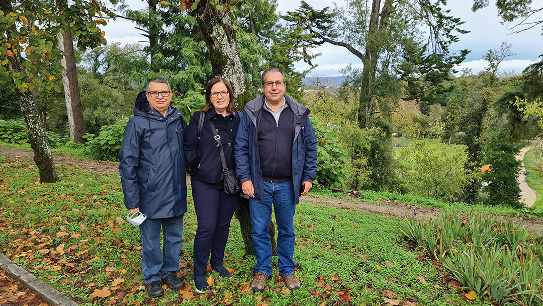 The project team, from the Coimbra School of Agriculture: José Gaspar, scientific coordinator of the project (on the right), with Beatriz Fidalgo and Raul Salas.